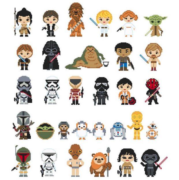 Star Characters Cross Stitch Pattern Bundle by NikkiPattern