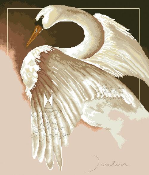 Swan Cross Stitch Pattern from YourFavoriteStitch
