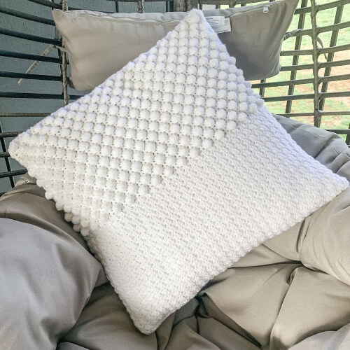 Textured Rustic Crochet Pillowcase Pattern by DorisAndLotte