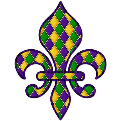 Tiled Design Fleur De Lis Clip Art Mardi Gras