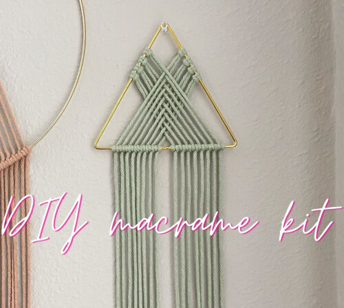 Triangle Wall Hanging Macrame DIY Kit from imogenmoon