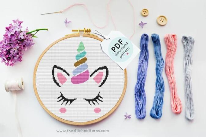 Unicorn Nursery Cross Stitch by TheStitchPatterns