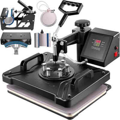 VEVOR 6 in 1 Digital Multifunctional Heat Press Machine for T Shirts