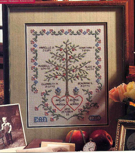 Very Simple Cross Stitch Family Tree Pattern from Cross Stitch Crochet Others