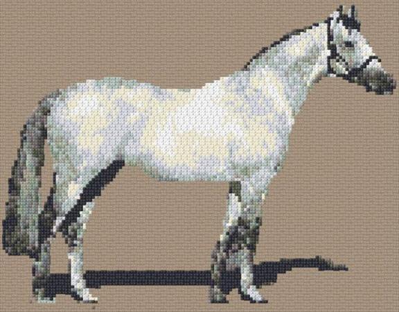 White Horse Cross Stitch Pattern by Ann Logan
