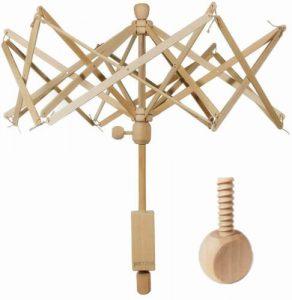 Wooden Umbrella Swift Yarn Winder