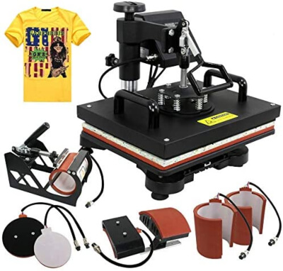 ZENY Pro 6 in 1 Combo Heat Press Machine