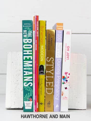 DIY Cement Bookends by Pretty Providence