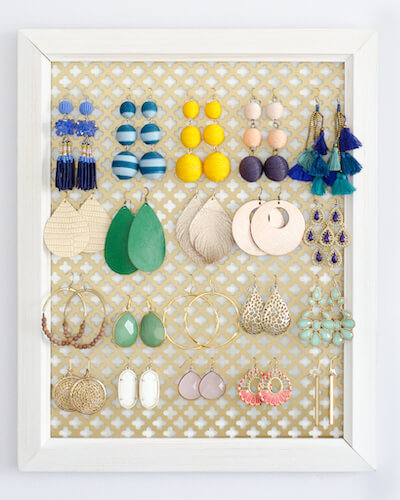 DIY Earring Organizer by Chronicles Of Home