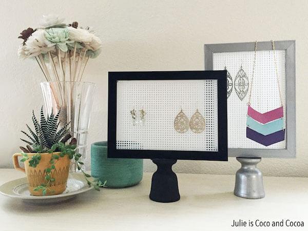 DIY Earring Stands by Julie Measures