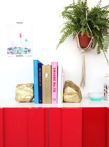 DIY Gold Bookends by Design Love Fest