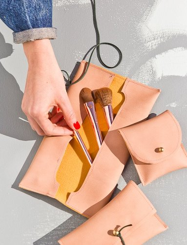 DIY Leather Pouches by Paper & Stitch