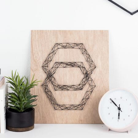 DIY Modern String Art by A Crafted Passion