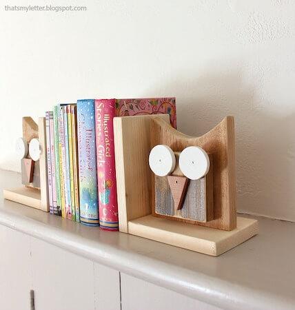 DIY Owl Bookends by Pretty Handy Girl