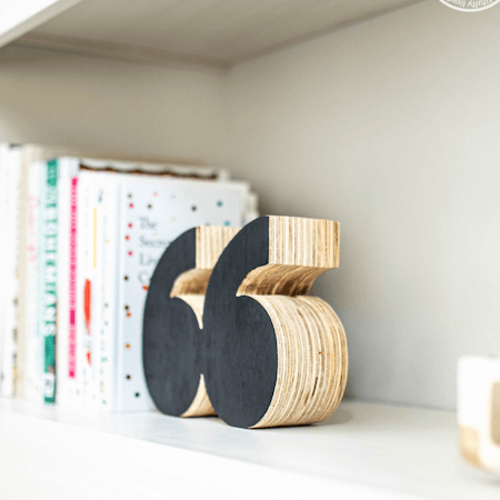 DIY Quote Bookends by Never Skip Brunch