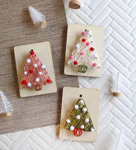 DIY String Art Ornaments by A Beautiful Mess