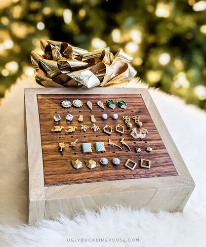 DIY Stud Earring Holder by Ugly Duckling House