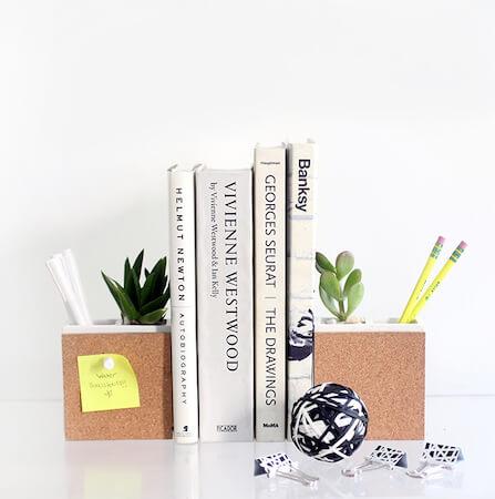 DIY Succulent & Supply Holder Bookends by I Spy DIY