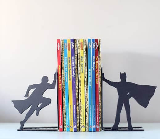 DIY Superhero Bookends by Little Red Window