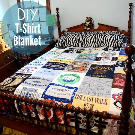 DIY T shirt Quilt by Stars For Streetlights