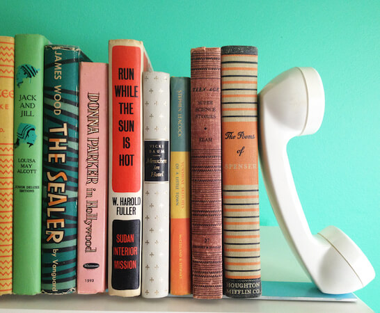 DIY Telephone Bookends by A Beautiful Mess