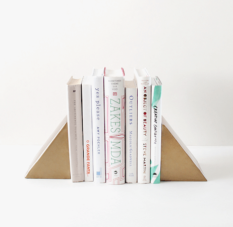 DIY Triangle Bookends by Almost Makes Perfect
