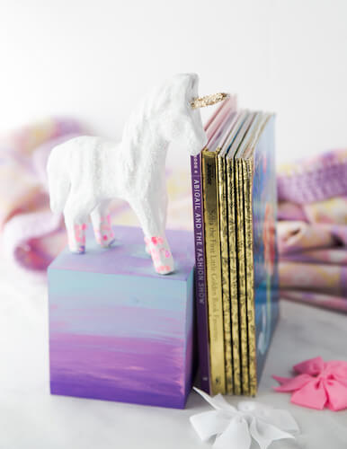 DIY Unicorn Bookend by Made To Be A Momma