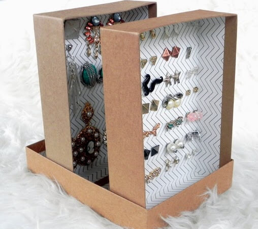 DIY Upcycled Birchboxes Into Earring Organizer by Smart N Snazzy