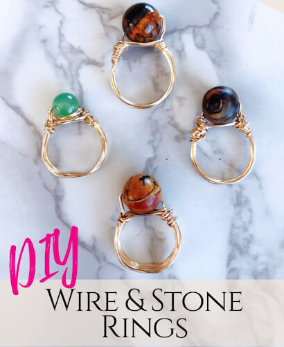 DIY Wire And Stone Rings by Creative Fashion Blog