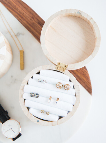 DIY Wooden Jewelry Box by The Beauty Dojo