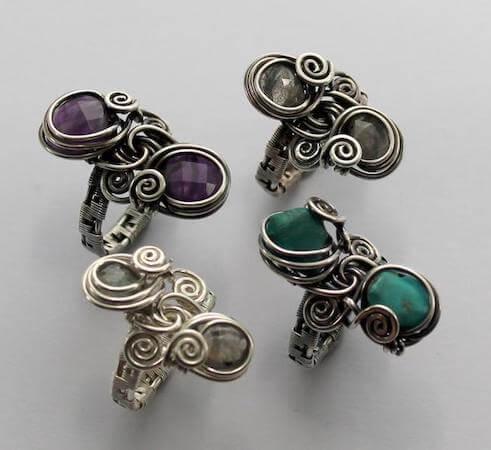 Double Stone Wire Wrap Tutorial by Abby Jewellery