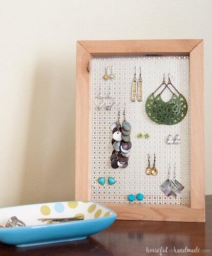 Easy DIY Earring Stand by Houseful Of Handmade