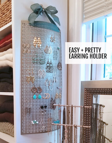 Easy Earring Holder by I Always Pick The Thimble