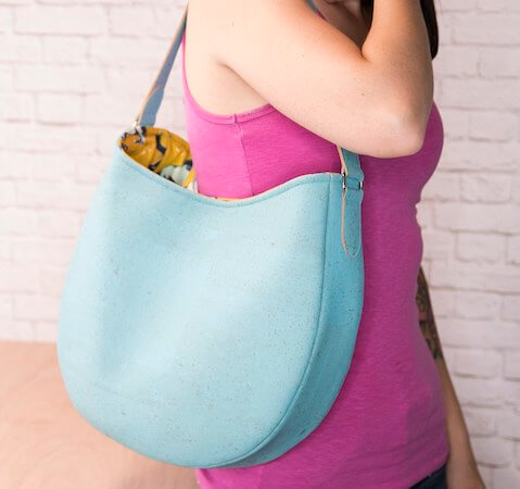 Easy Leather Hobo Bag Pattern by Sew Sweetness