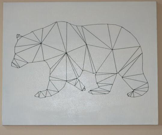 Geometric Bear String Art by Rachel Teodoro