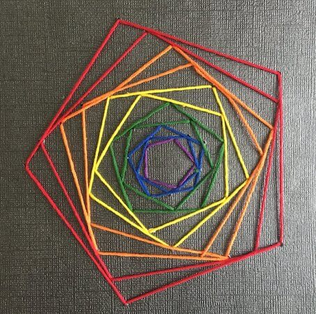 Geometric String Art by Rapid Resizer