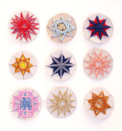 Geometric String Stars by Creative Jewish Mom