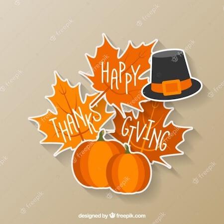 Happy Thanksgiving Clip Art by Freepik