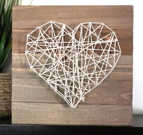 Heart String Art by The Spruce Crafts