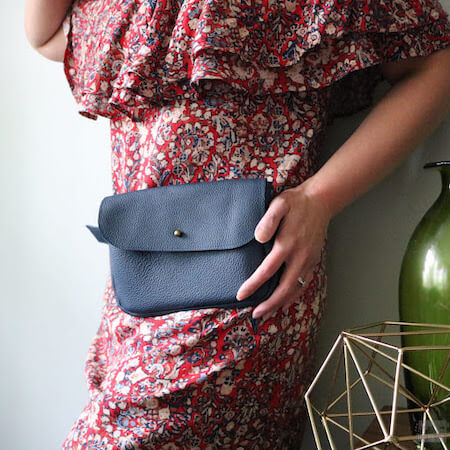 Kelly Waist Leather Bag Pattern by I Love You Sew