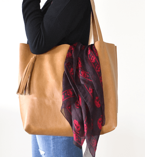 Leather Tote Bag Pattern by Boxwood Avenue