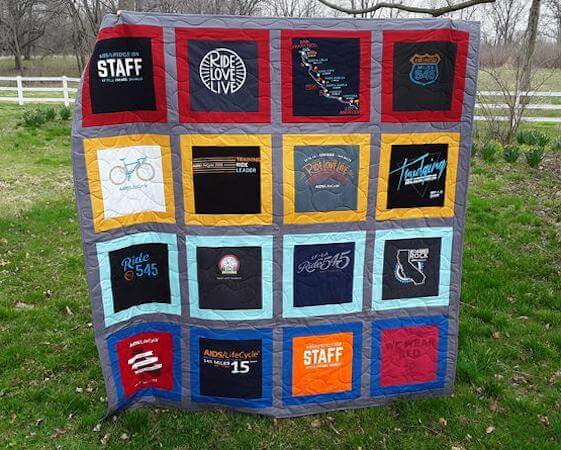 T-Shirt Memory Quilt Pattern by Quilts Plus Love