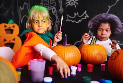 paint for halloween pumpkins