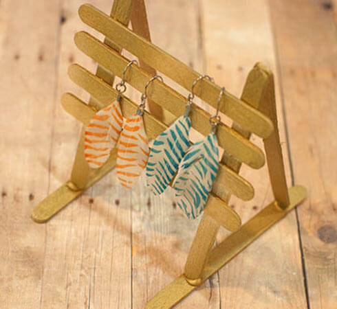 Popsicle Stick Earring Holder by Factory Direct Craft