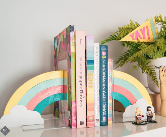 Rainbow DIY Bookends by See Lindsay