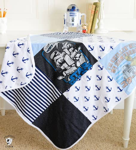 T-Shirt Quilt Baby Blanket Pattern by Polkadot Chair