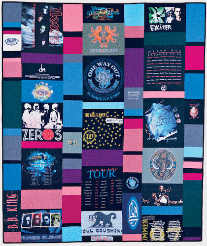 T shirt Memory Quilt Pattern by All People Quilt