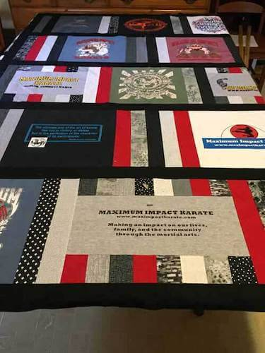 T Shirt Quilt Pattern by Needle Pointers