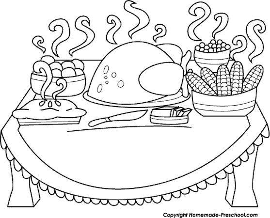 Thanksgiving Clip Art Black And White by Wiki Clip Art