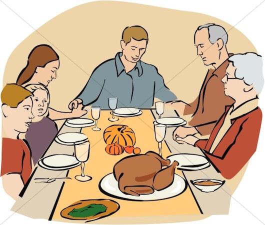 Thanksgiving Prayer Clipart by Share A Faith
